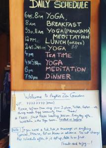 Angkor Zen Daily Schedule