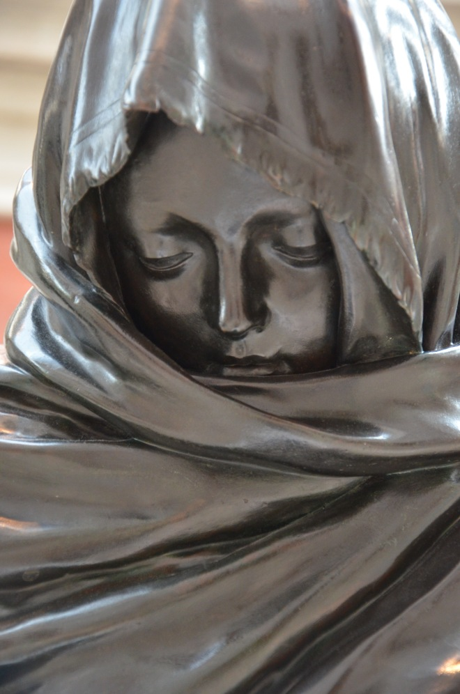 pewter woman tears